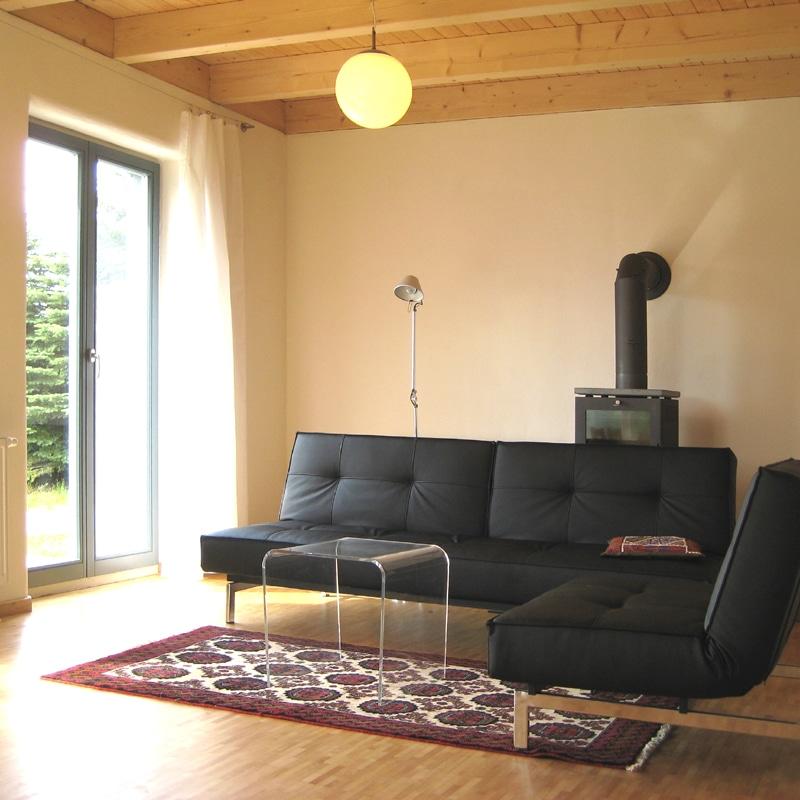 Holzhaus&Lehm - Lehmwand mit Kaseinanstrich