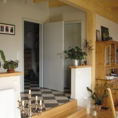Holzhaus&Lehm - Holzbalkendecke