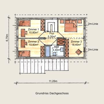 Holzhaus Alperstedt Grundriss DG