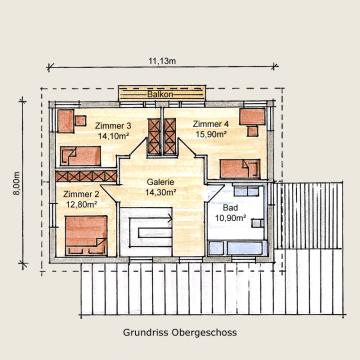 Holzhaus Eschenbergen Grundriss DG