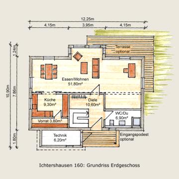 Holzhaus Ichtershausen 160m² Erdgeschoß
