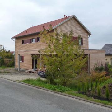Holzhaus Marktzeuln - Fassade fertig