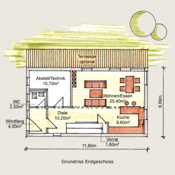 Holzhaus Sömmerda 125 EG