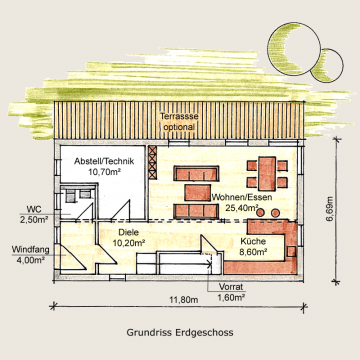 Holzhaus Sömmerda Grundriss EG