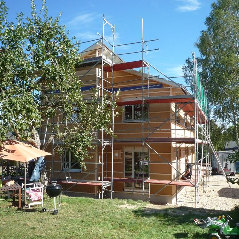 Holzhaus Eins: Holzhaus In Stollberg Mit Erdwärmepumpe