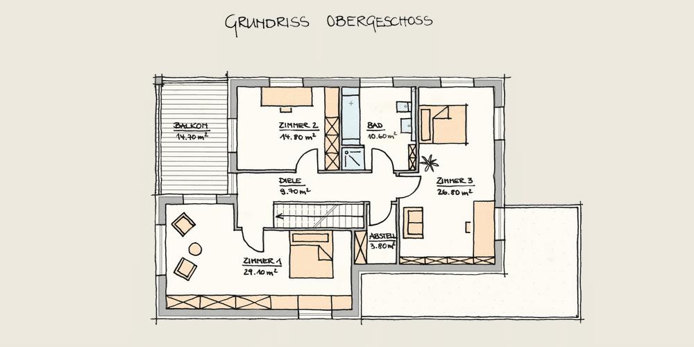 Holzhaus Konzepte - Wohnen und Arbeiten - OG