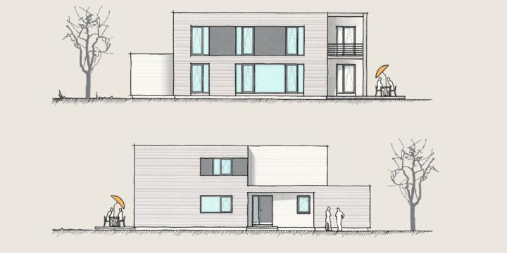 Holzhaus Konzepte - Wohnen und Arbeiten - Ansichten