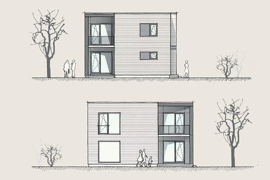 Holzhaus Konzepte Wohnen im Kubus Ansichten