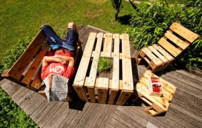 Palettenmoebel für Holzhäuser