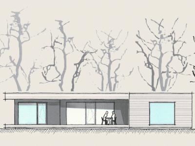 Wohnen auf einer Ebene im Holzhaus