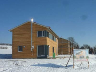 Holzhäuser in Michelau (Franken)