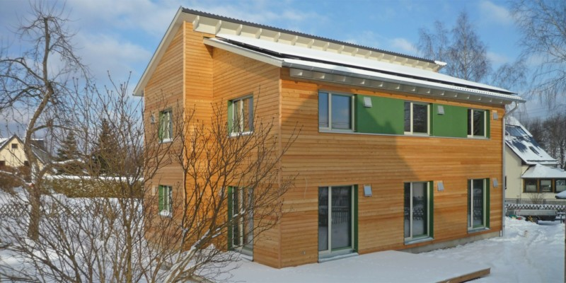 Holzhaus in Stollberg mit Erdwärmepumpe: Holzhaus Stollberg 14 11