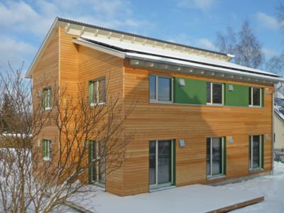 Holzhaus in Stollberg mit Erdwärmepumpe