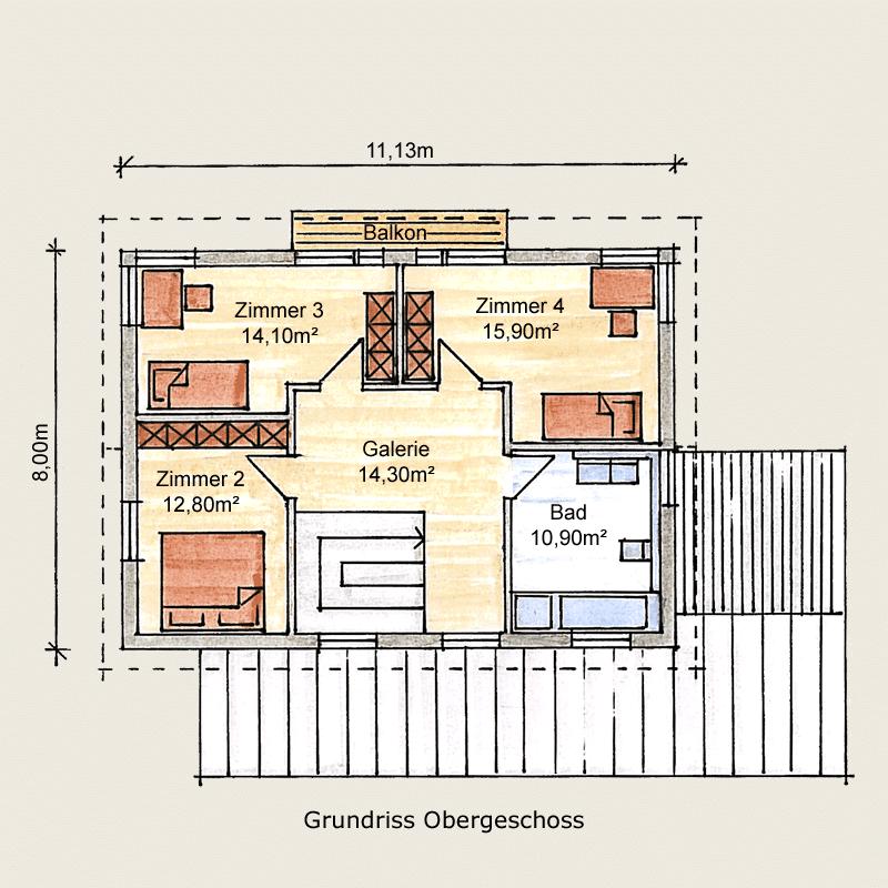 Holzhaus Eschenbergen: Holzhaus Eschenbergen OG 8