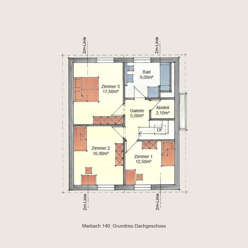 Holzhaus Marbach: Holzhaus Marbach140 DG 1 9