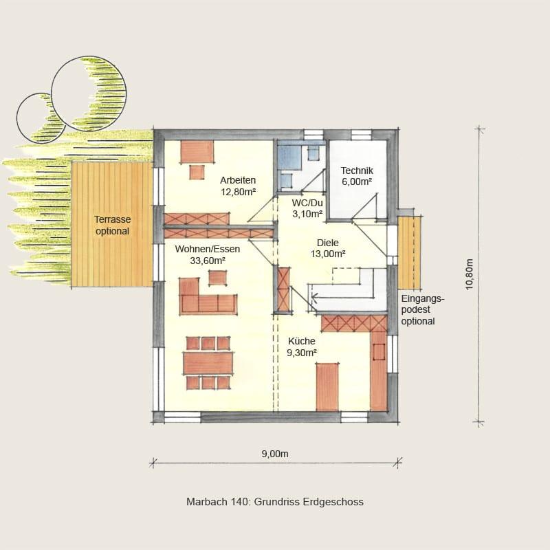 Holzhaus Marbach: Holzhaus Marbach140 EG 1 8