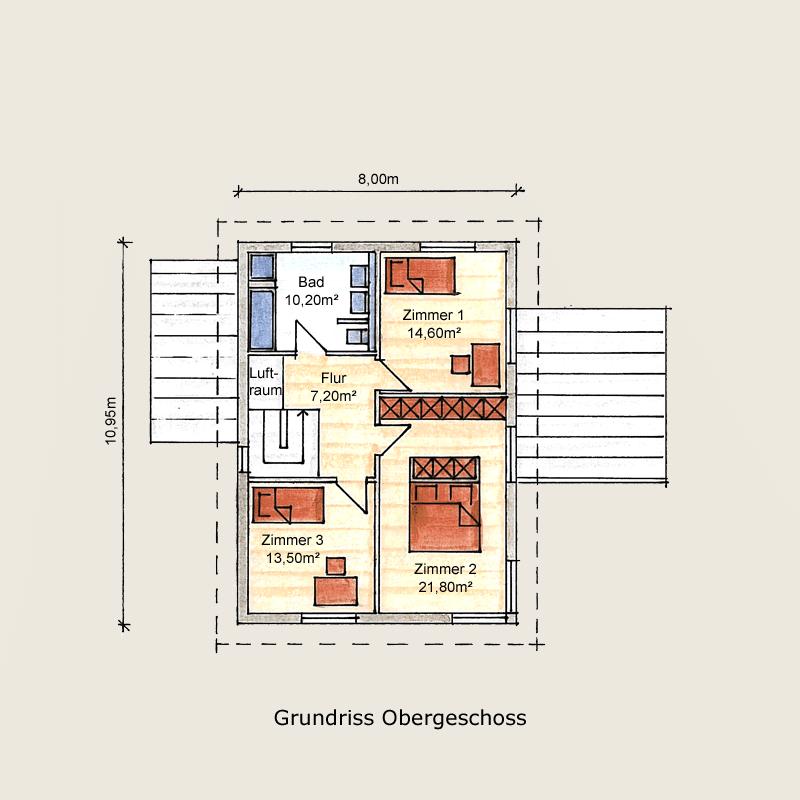 Holzhaus Sachsenhausen: Holzhaus Sachsenhausen OG 7
