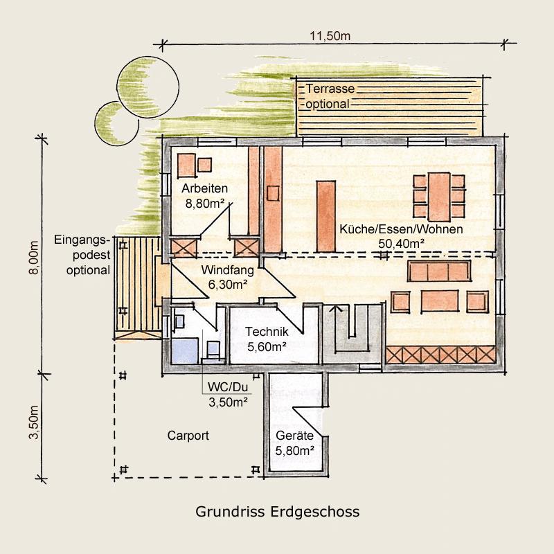 Holzhaus Wernigerode: Holzhaus Wernigerode EG 4