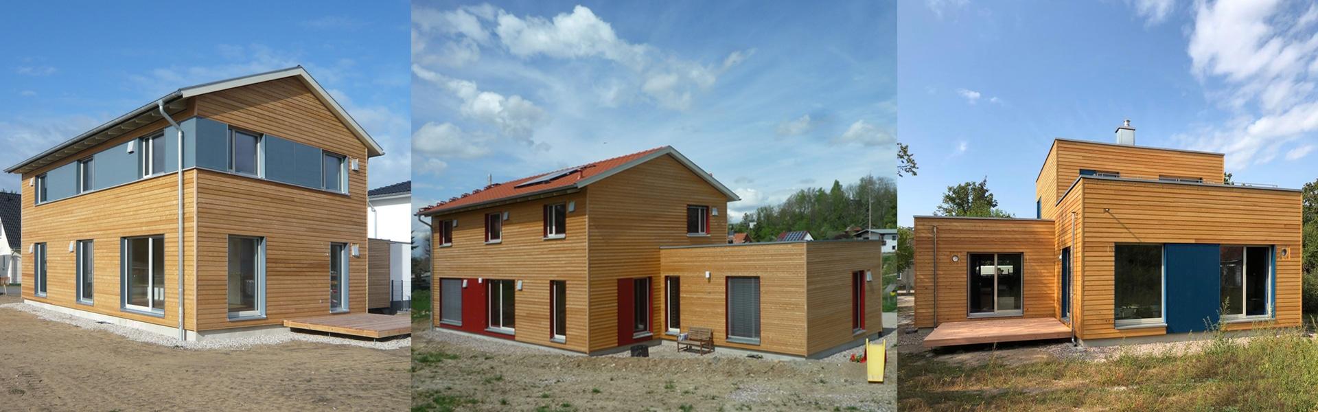Fünf neue Holzhäuser