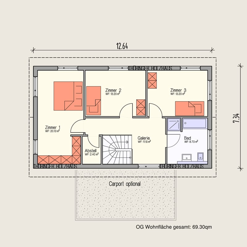 Holzhaus Sömmerda: Holzhaus Soemmerda 140 OG 10